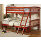 Coaster Youth Twin/Full Bunk Bed in Cherry 460222