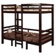 Coaster Youth Twin/Twin Convertible Loft Bed in Cappuccino 460263