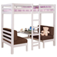 Coaster Youth Twin/Twin Convertible Loft Bed in White 460273