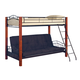 Coaster Youth Twin/Futon Bunk Bed in Brown and Black 2249