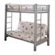 Coaster Youth Twin/Futon Bunk Bed in Silver 7399