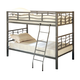 Coaster Youth Twin/Twin Bunk Bed in Silver 7395