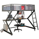 Coaster Youth Full Workstation Loft Bed in Black 460092