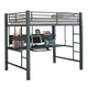 Coaster Youth Full Workstation Loft Bed in Black 460023