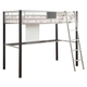 Coaster LeClair Youth Twin Loft Bed in Silver and Black 460281