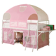 Coaster Youth Twin Tent Loft Bed in Pink and White 460202