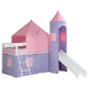 Coaster Youth Twin Tent Loft Bed in Pink, Purple & White 460279