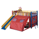 Coaster Youth Twin Tent Loft Bed in Red, Blue and Yellow 7239