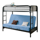 Coaster Youth Twin/Futon Bunk Bed in Black 2250K