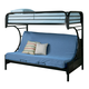 Coaster Youth Twin/Futon Bunk Bed in Black 2253K