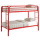 Coaster Youth Twin/Twin Bunk Bed in Red 2256R