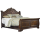 Liberty Furniture Highland Court Eastern King Sleigh Bed in Rich Cognac Finish 620-BR22H