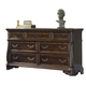 Liberty Furniture Highland Court 7 Drawer Dresser in Rich Cognac Finish 620-BR31
