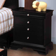 New Classic Belle Rose 4 Drawer Night Stand in Black Cherry Finish 00-013-040