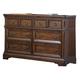 Liberty Furniture Laurelwood 6 Drawer Dresser in Chestnut Finish 547-BR31