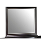 New Classic Belle Rose Landscape Mirror in Black Cherry Finish 00-013-060