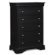 New Classic Belle Rose 5 Drawer Lift Top Chest in Black Cherry Finish 00-013-070