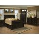 New Classic Belle Rose Sleigh Bedroom Set in Black Cherry Finish 00-013
