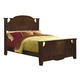 New Classic Drayton Hall California King Poster Bed in Bordeaux Finish 6740-212