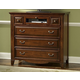 New Classic Drayton Hall 6 Drawer Media Console in Bordeaux Finish 01-6740-078