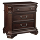 New Classic Emilie 3 Drawer Night Stand in English Tudor Finish 1841-040