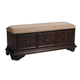 New Classic Emilie 3 Drawer Bench in English Tudor Finish 1841-093