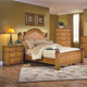 New Classic Hailey California King Panel Bed in Toffee Finish 4431-210A