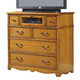 New Classic Hailey 6 Drawer Media Console in Toffee Finish 01-4431-078