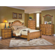 New Classic Hailey Panel Bedroom Set in Toffee