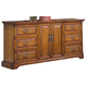 New Classic Honey Creek 6 Drawer Dresser in Caramel Finish 1133-050