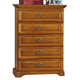 New Classic Honey Creek 5 Drawer Lift Top Chest in Caramel Finish 1133-070