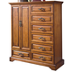 New Classic Honey Creek 7 Drawer Magna Chest (Door) in Caramel Finish 1133-073