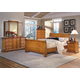 New Classic Honey Creek Sleigh Bedroom Set in Caramel