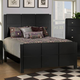 New Classic Luna Queen Panel Bed in Black Cherry Finish 00-001-310