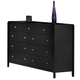 New Classic Luna 9 Drawer Dresser in Black Cherry Finish 00-001-050