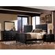 New Classic Luna Panel Bedroom Set in Black Cherry
