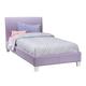 Standard Furniture Fantasia Upholstered Twin Platform Bed in Lavender 60771