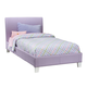 Standard Furniture Fantasia Upholstered Full Platform Bed in Lavender 60772
