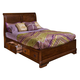 New Classic Sheridan California King Storage Bed in Burnished Cherry Finish 00-005-238
