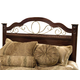 Standard Furniture Sorrento Full/Queen Panel Headboard in Brown 4001
