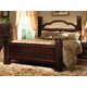 Standard Furniture Sorrento Queen Poster Bed in Abby Wood & Olympus Brown 4002