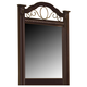 Standard Furniture Sorrento Panel Mirror in Abby Wood & Olympus Brown 4018