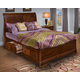 New Classic Sheridan Storage Bed Set in Burnished Cherry Finish 00-005