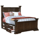 New Classic Timber City Eastern King Storage Poster Bed in Sable Finish 00-007-110