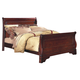 New Classic Versaille Eastern King Sleigh Bed in Bordeaux Finish 1040-111A