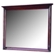 New Classic Versaille Landscape Mirror in Bordeaux Finish 1040-060