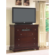 New Classic Versaille 6 Drawer Media Console in Bordeaux Finish 01-1040-078