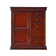 New Classic Versaille 5 Drawer Magna Chest (Door) in Bordeaux Finish 1040-073