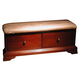 New Classic Versaille 2 Drawer Bench in Bordeaux Finish 1040-093