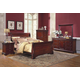 New Classic Versaille Sleigh Bedroom Set in Bordeaux